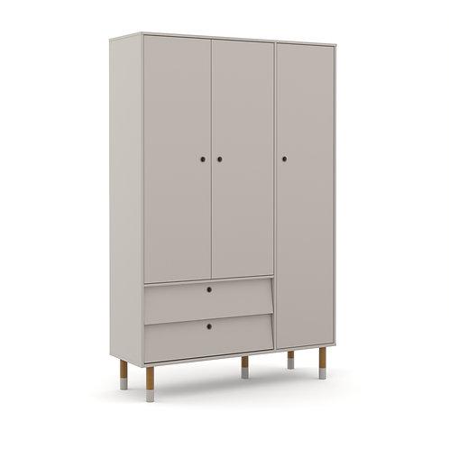 Roupeiro Up 3 portas cinza - Matic Móveis