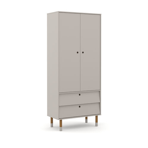 Roupeiro Up 2 portas cinza - Matic Móveis