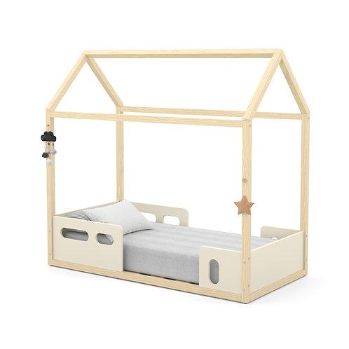 Mini Cama Montessoriana Liv offwhite/natural - Matic Móveis