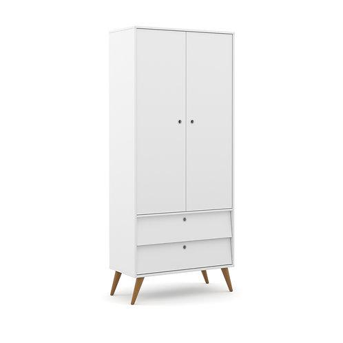 Roupeiro Gold 2 portas branco - Matic Móveis
