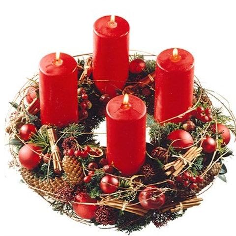 Corona tradizionale con candele