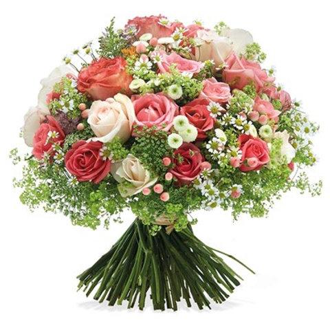 Bouque di Rose e fiori di campo