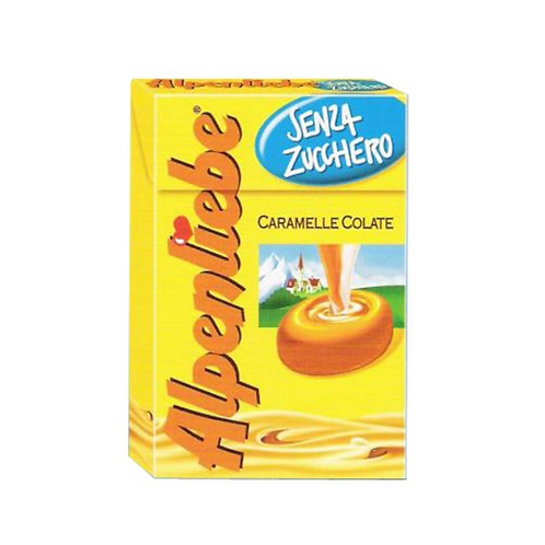 Alpenliebe caramelle senza zucchero astuccio 49 gr