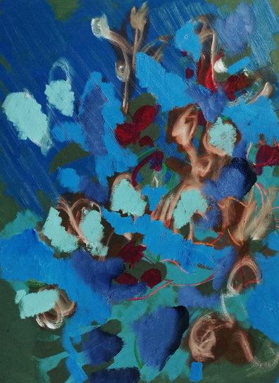 Blue Scatter Flowers