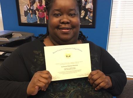 Congratulations Ms. Peterson!