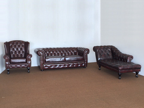 Chesterfield Winged Chair, Lounge & Day Couch Chesterfield