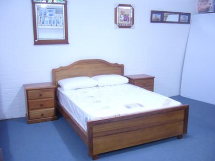 Blackwood Bed + 2 Bedside Draws