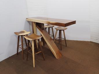 Teak Bar Table With 4 x Barstools.jpg