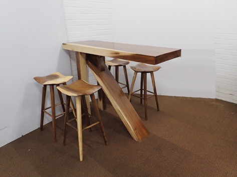 Teak Bar Table With 4 x Barstools.jpg