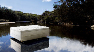 Bed on Lake