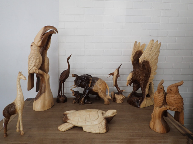 Hand Carved Timber Statue's