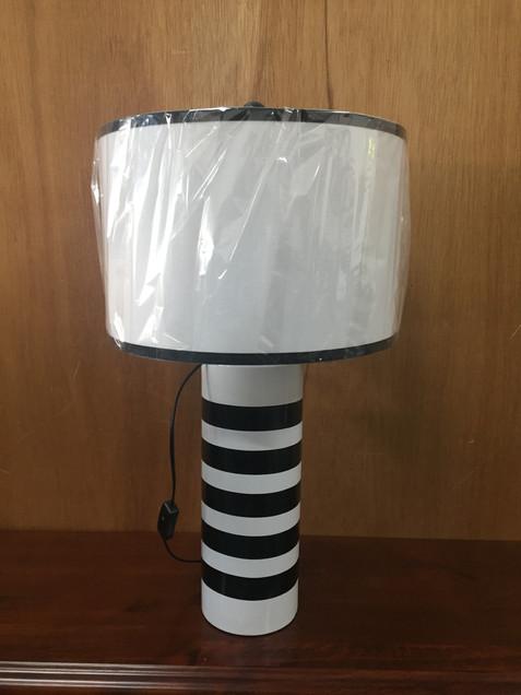 Lamp Blac & White Stripe.