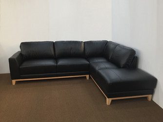 Bayou 3 Seater Chaise Leather.