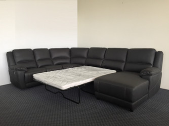 Clinton Corner Lounge with Sofa Bed Open