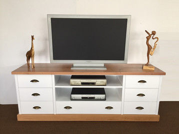 Wormy Chestnut White 2 Tone Tv Unit .jpg