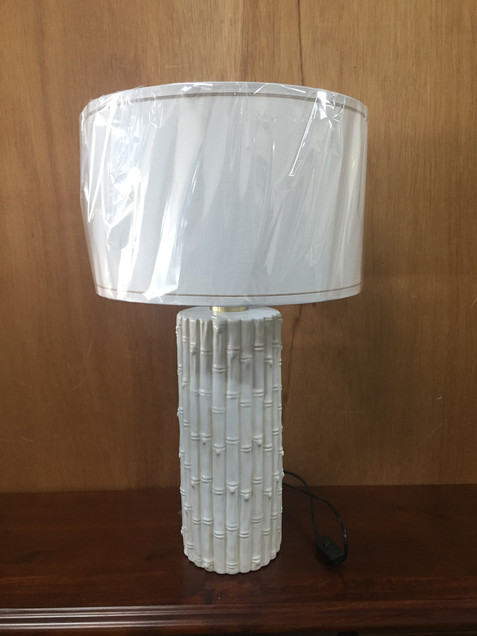 Lamp White Cane Look