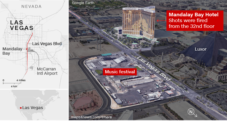 10/1 Las Vegas Shooting Diagram