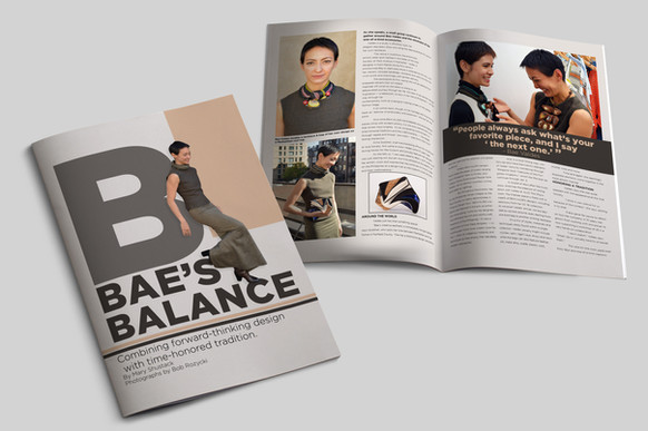 Magazine cover and page