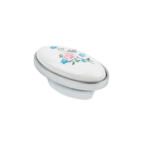 Ручка-кнопка с фарфором KF04-08