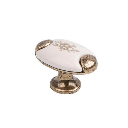 Ручка-кнопка с фарфором KF05-09 OAB