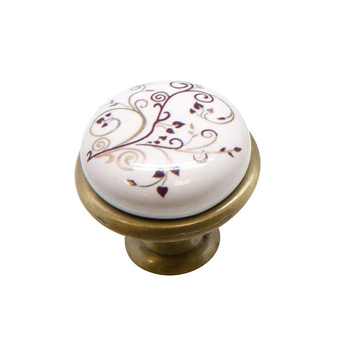 Ручка-кнопка с фарфором KF01-04 BA