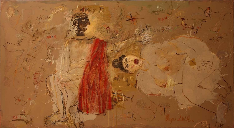 021  Akis and Galathea, oil on canvas, 2