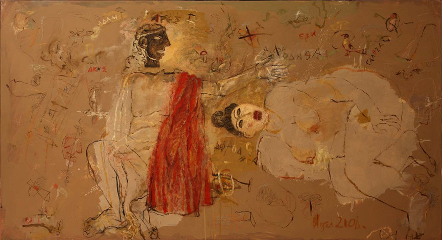021  Akis and Galathea, oil on canvas, 2