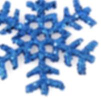 Blue Glitter Snowflake