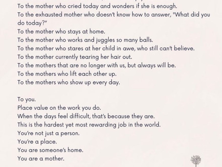 Happy Mother's Day (for yesterday & today) and every day xx