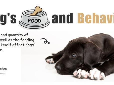 狗狗飲食與行為的關係!