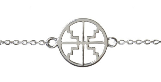 Baby ROXY Disc Bracelet Silver