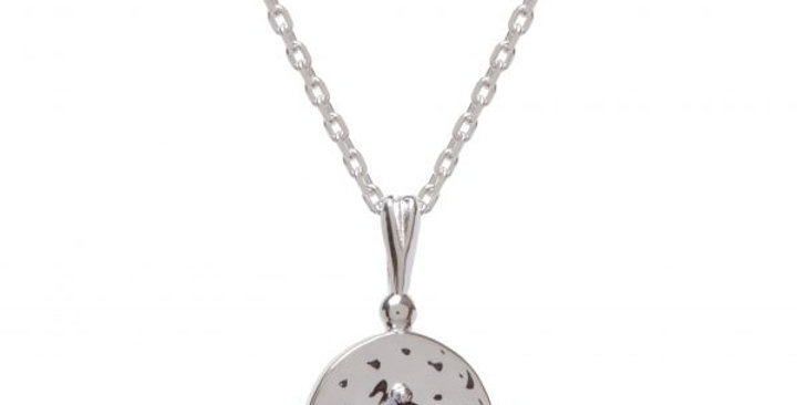 Amalfi Baby Coin Silver with Black