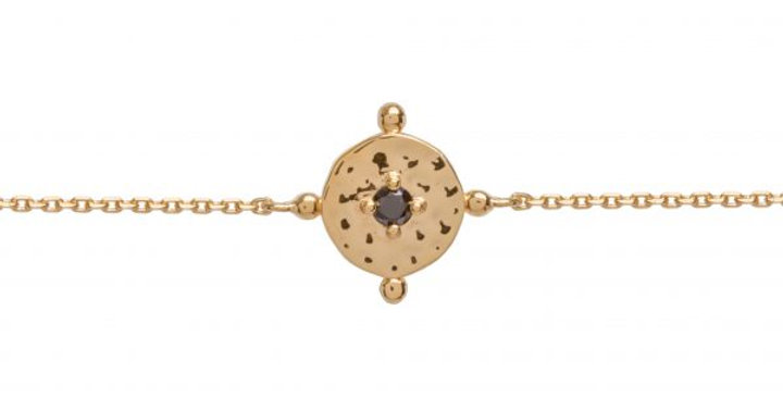 Baby Amalfi Coin Bracelet Gold with Black