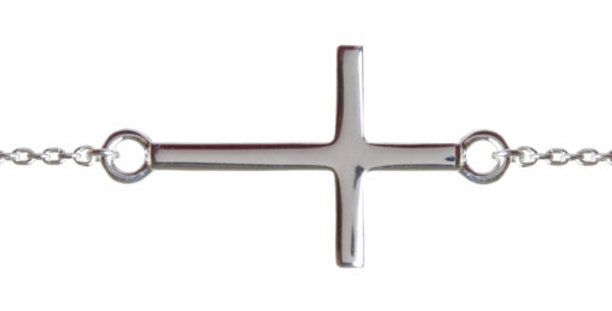 Baby Cross Bracelet Silver