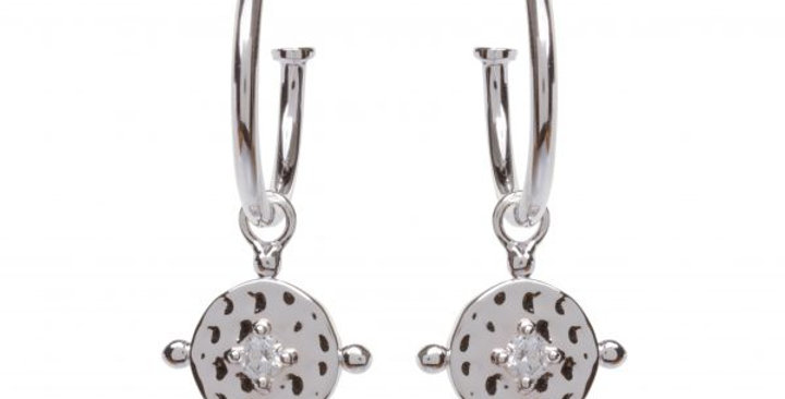 Baby Amalfi Hoops Silver with Clear