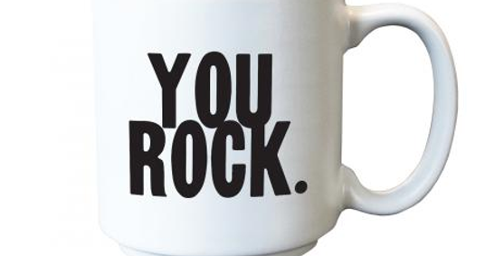 Quotable Espresso Mug You Rock