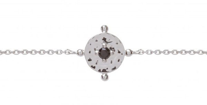 Baby Amalfi Coin Bracelet Silver with Black