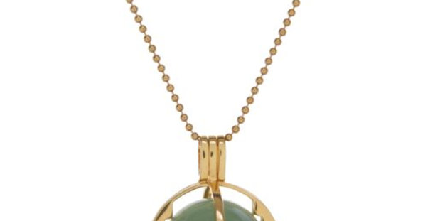 ROXY Cage Gold with Green Aventurine