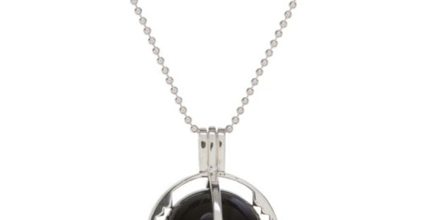 ROXY Cage Silver with Black Onyx