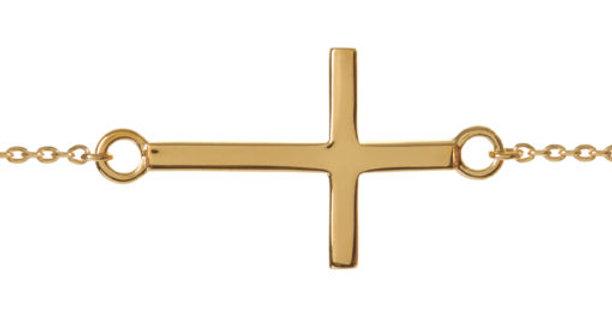 Baby Cross Bracelet Gold