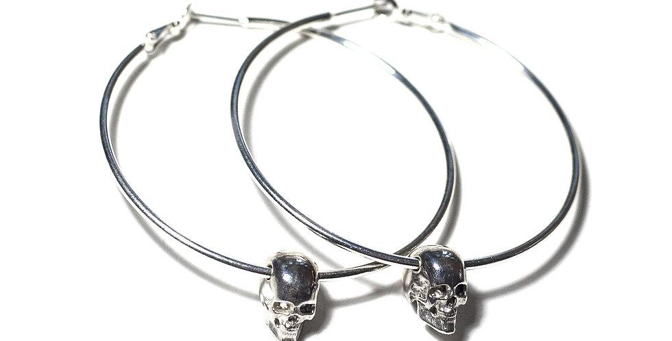 Skull Hoops Silver