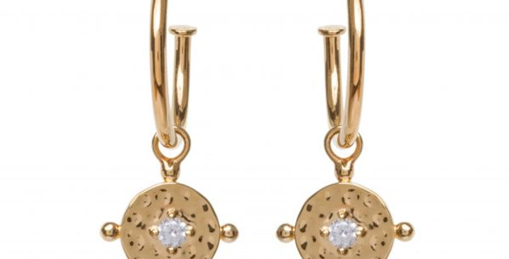 Baby Amalfi Hoops Gold with Clear