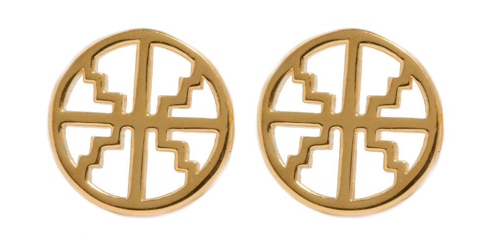 Roxy Stud Earrings Gold