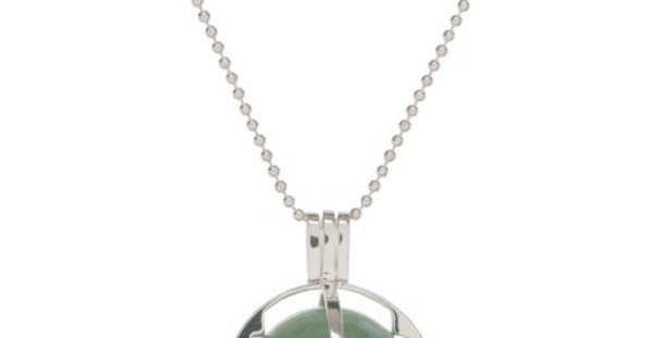 ROXY Cage Silver with Green Aventurine