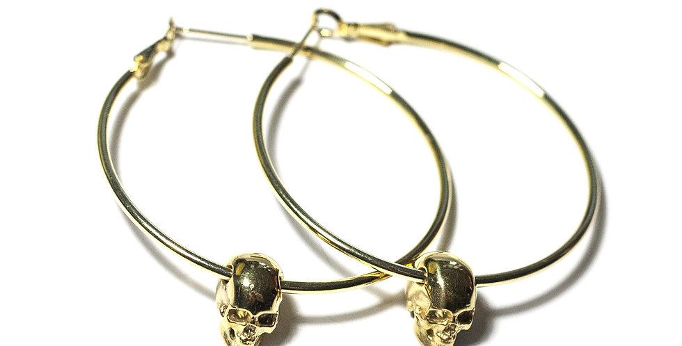 Skull Hoops Gold
