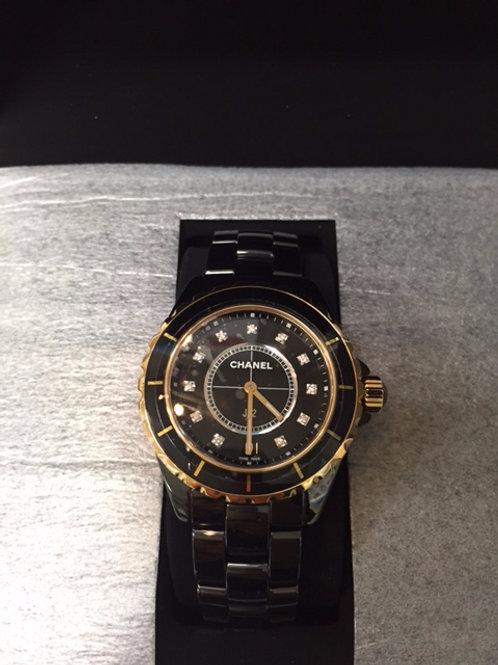 CHANEL MEN'S H2544 J12 DIAMOND DIAL WATCH
