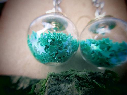 Ohrringe Glassperlen mit Sternchen