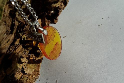 Halskette Schleirblatt orange