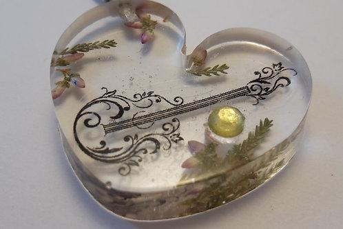 Schlüsselanhänger Herz Gitarre