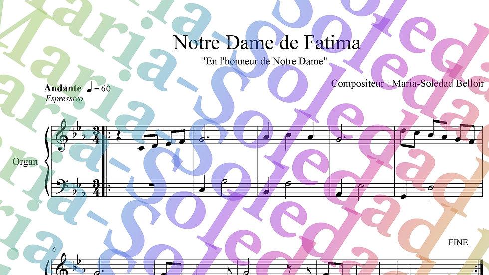 Notre Dame de Fatima pour Harpe